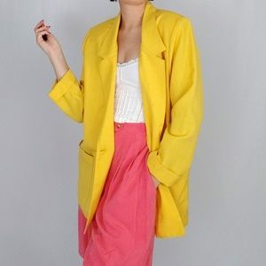 Late 80's / early 90's yellow blazer